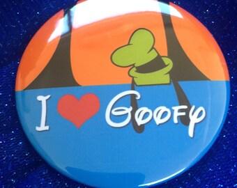 "I love Goffy 3"" button"