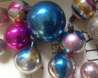 Vintage collection glass ball Christmas tree ornament Poland lot