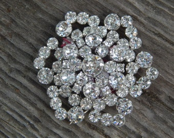 Sterling Silver and Clear Crystal Jay Flex Brooch!