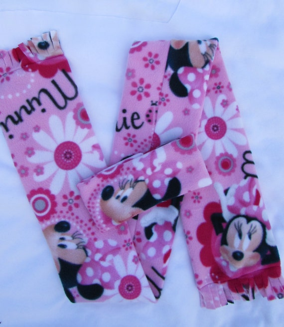 Minnie Mouse fleece headband and scarf set size toddler and school age