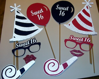 DIY - Sweet 16 Birthday Party photo prop Party Hat (2138D)