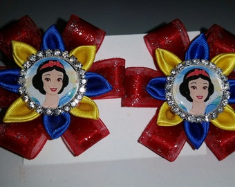 Disney Inspired Snow White Hairclips - Handmade