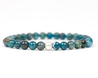 Apatite Bracelet Healing Gemstone Bracelet Motivation Chakra Handmade Jewelry, unique-gift-for-wife, holidays