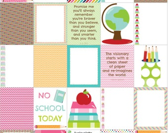 BACK to SCHOOL SUPPLIES for use with Erin Condren Life Planner (vertical) - digital - Instant Download
