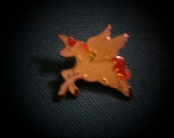 Vintage Winged Unicorn / Horned Pegasus / Alicorn / Unipeg / Pegacorn Enamel Pin
