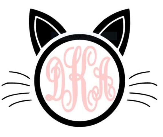 Cat Amp Kitten Lover Monogram Initial Vinyl Decal By