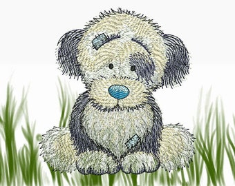 """Seep Dog - Machine Embroidery Designs Set for a Babies and Children of a series """"Old Toy"""""""