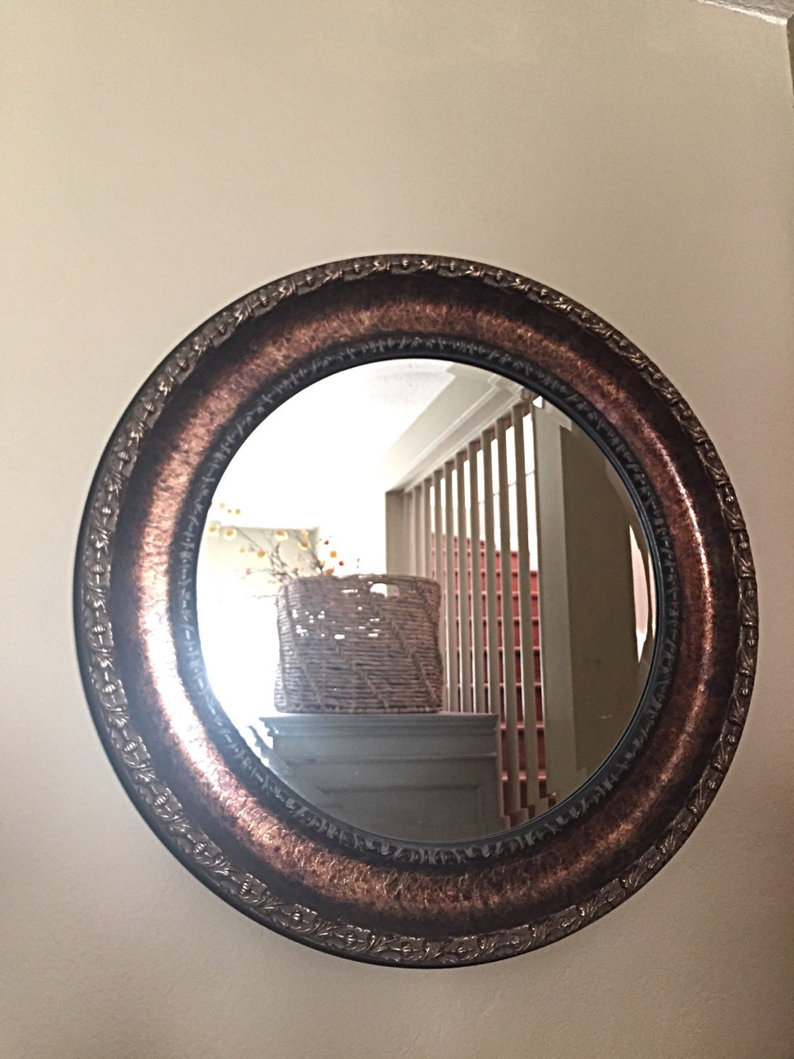 Oil Rubbed Bronze Round Bathroom Mirror Shabby Chic Ornate