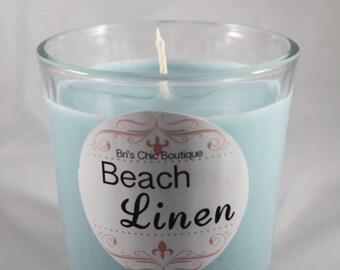 Beach Linen Tumbler Candle