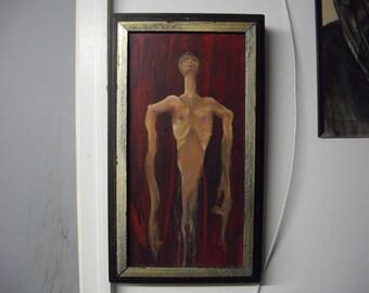 "acyrlic painting titled ""Melting away"""