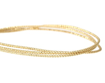 5 Ft Copper Beading Wire Gold Tone 18 Gauge (No.826)