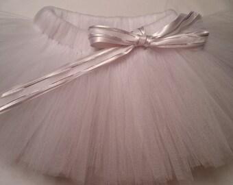 White Tutu, white baby tutu, wedding tutu, flower girl tutu, baby tutu, infant tutu, toddler tutu, newborn tutu, preemie tutu, girl tutu
