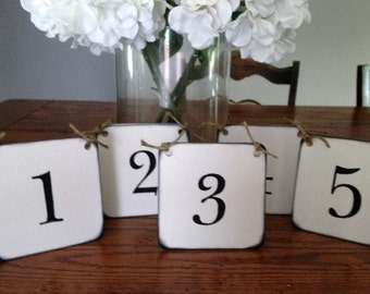 Rustic Table Number Card/Wedding Table Number Tent Set of 10