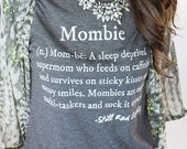 Mombie® Defined Shirt Size L, mombie definition, funny mom quote, coffee lover, gift for mom, baby shower gift
