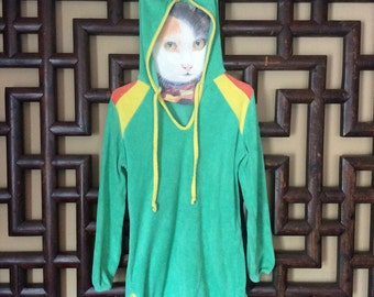 Vintage 1970s Terry Cloth Hoodie { small }