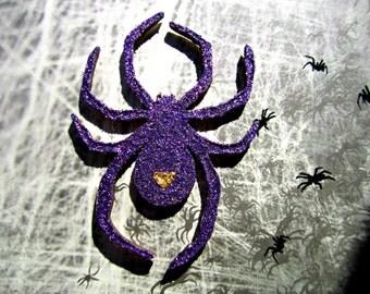 Glitter Spider- Halloween prop- Instagram prop- Halloween party- Halloween party decor- Party decor- Gift for people who love Halloween