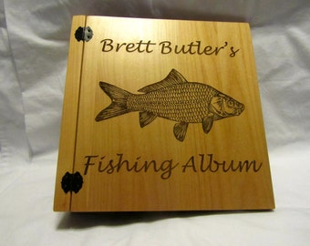 Personalized 3 Ring Photo Album - Fishing Memories