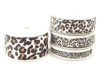 Grosgrain Cheetah Animal Print Ribbon, 25-yard