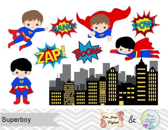 Digital Superhero Clip Art Superhero Digital Clipart Super