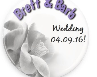"1"" Magnet Wedding Save The Date"