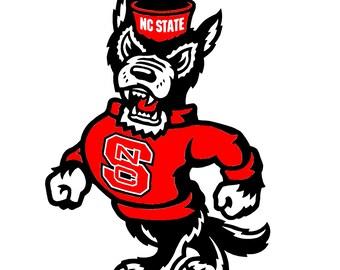 North Carolina State Wolfpack Cornhole Decal