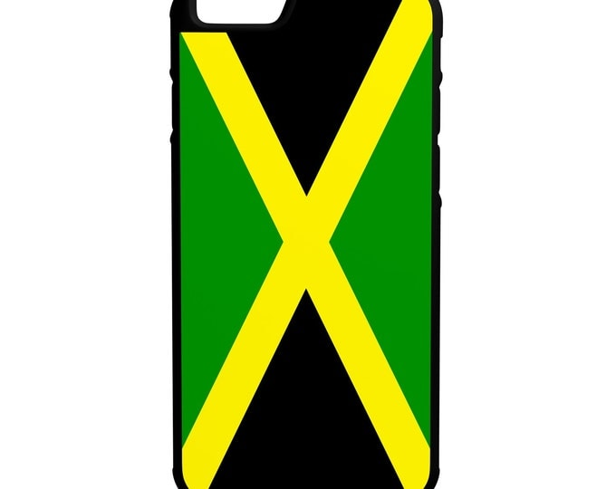 Flag of Jamaica iPhone Galaxy Note LG HTC Hybrid Rubber Protective Case Jamaicans