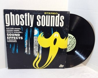 Ghostly Sounds vinyl record 1974 Power Records 8145 Halloween Party VG+/EX