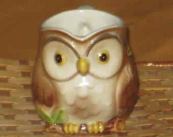 Vintage Hand Painted Tableware 1981 Otagiri Owl Creamer OMC Japan