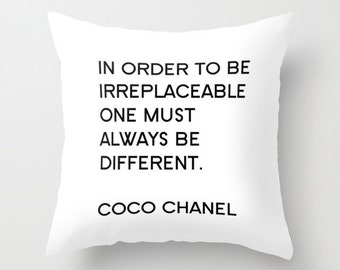 Velvet Fashion Quote Pillow, Black and White, Fashion Decor, Pillows with Sayings, Girls Pillows, Teen Girl Room Decor, Dorm, Gift for Her