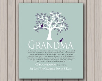 Grandma - Gift from Grandchildren - Can Be Personalized With We or I Love you Grandma With Grandchildrens Names - Any Color Available