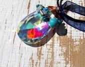 Pendentif Ecodesign - Cristal Ultra Sublime avec turquoise