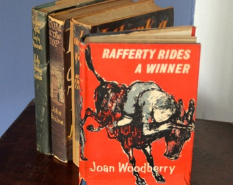 "A striking 1960's  Joan Woodbberry's  Childrens book Classic ""Rafferty Rides a Winner"""