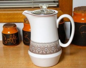 Rare Vintage Noritake Progression Pacific 9010 Coffee Percolator  Retro