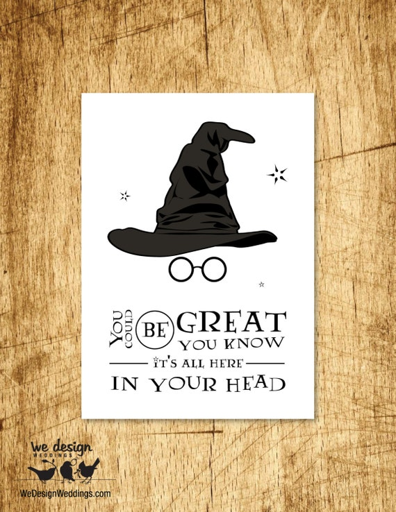 Harry Potter Birthday Cards Free Printable ~ Printable harry potter sorting hat birthday card diy