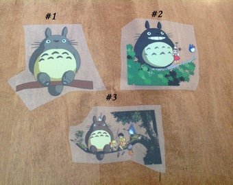 Totoro Iron - On Heat Transfer - Free Shipping