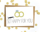 Funny wedding card, congratulations love card wedding, gift engagement marriage greetings card best friend card newly weds married