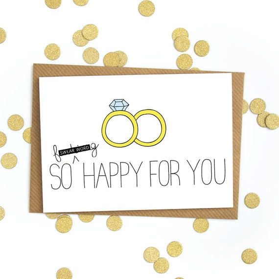 Funny wedding card, congratulations love card wedding, gift engagement ...