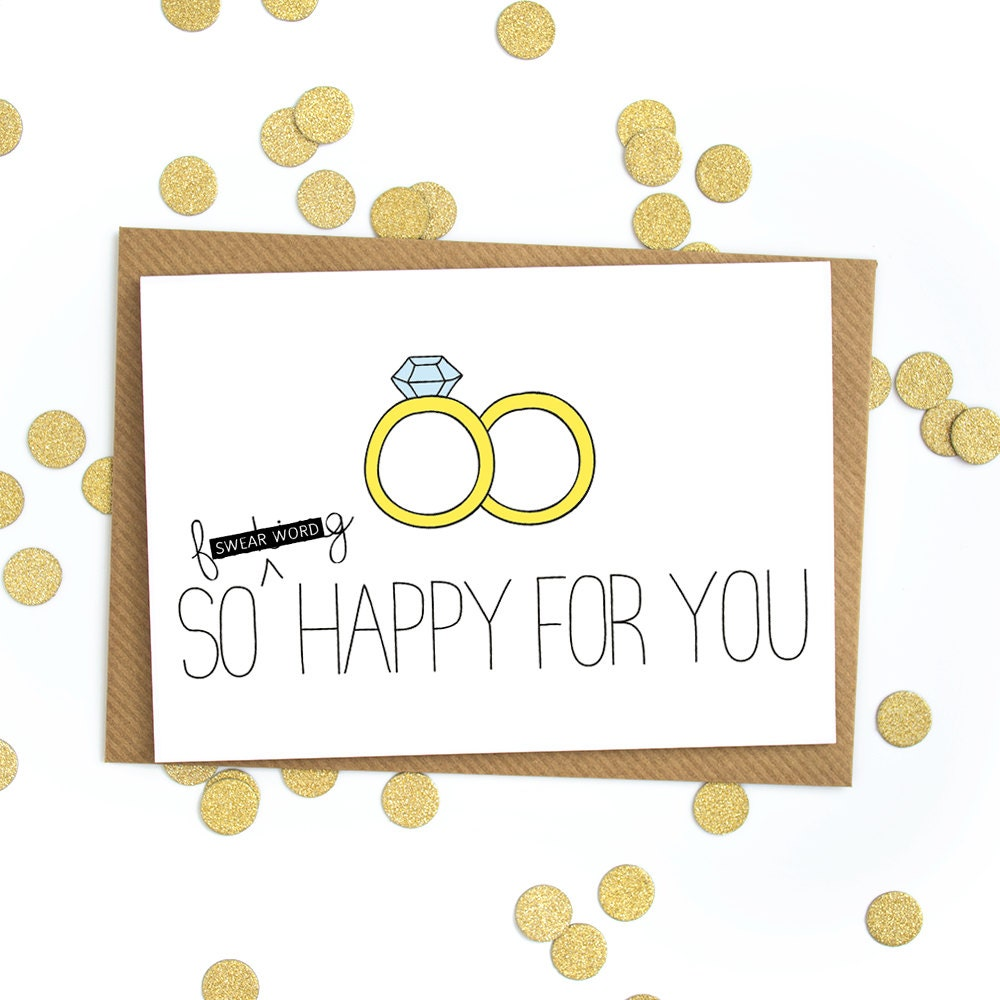 Funny wedding card congratulations love card wedding gift Married to design