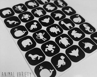 Animal Variety Nail Vinyls