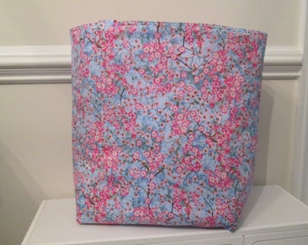 A Large Cherry Blossom Tote Bag