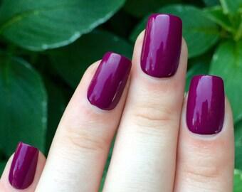 Fake nails, purple nails, press on nails
