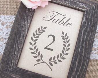 Rustic table numbers - Table numbers wedding - Rustic wedding table numbers - Wedding table numbers