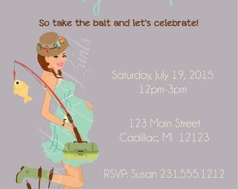 neutral gender baby shower invitation u2022 fishing baby shower invitation u2022 theme baby invitation for boy