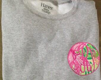 Monogrammed Lily Pulitzer sweatshirt