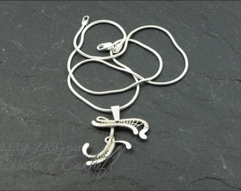 Letter F Pendant Initiale for Women in Sterling Silver