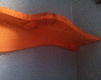 shelf. Red Cedar Floating corner