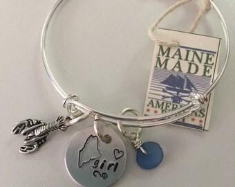 Maine Girl Adjustable Sea Glass Bracelet