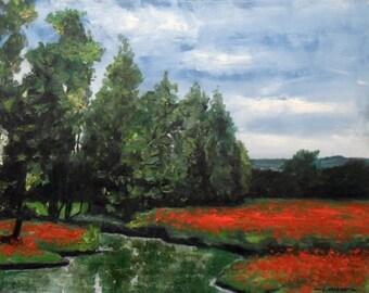 Landscape of Forest Edge Oil Painting (50cm x 40cm )