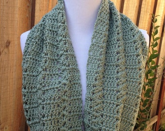 Green Infinity Scarf; Light Green Circle Scarf; Spring Infinity Scarf; Summer Infinity Scarf; Sage / Celery Infinity Scarf, Green Scarf;