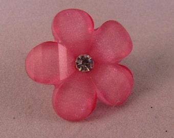 Flower Lapel Pin Brooch - Pink - Everyday / Wedding / Prom